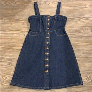 Madewell button front denim dress sz 4~$90